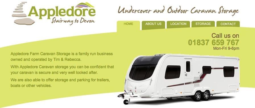 Appledore Farm Caravan Storage Okehampton Devon