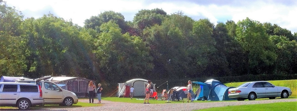 Family camping Okehampton Devon Dartmoor National Park