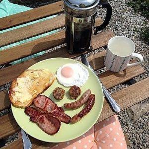 Appledore Park Glamping breakfast basket for visitors