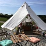 luxury glamping bell tent appledore park