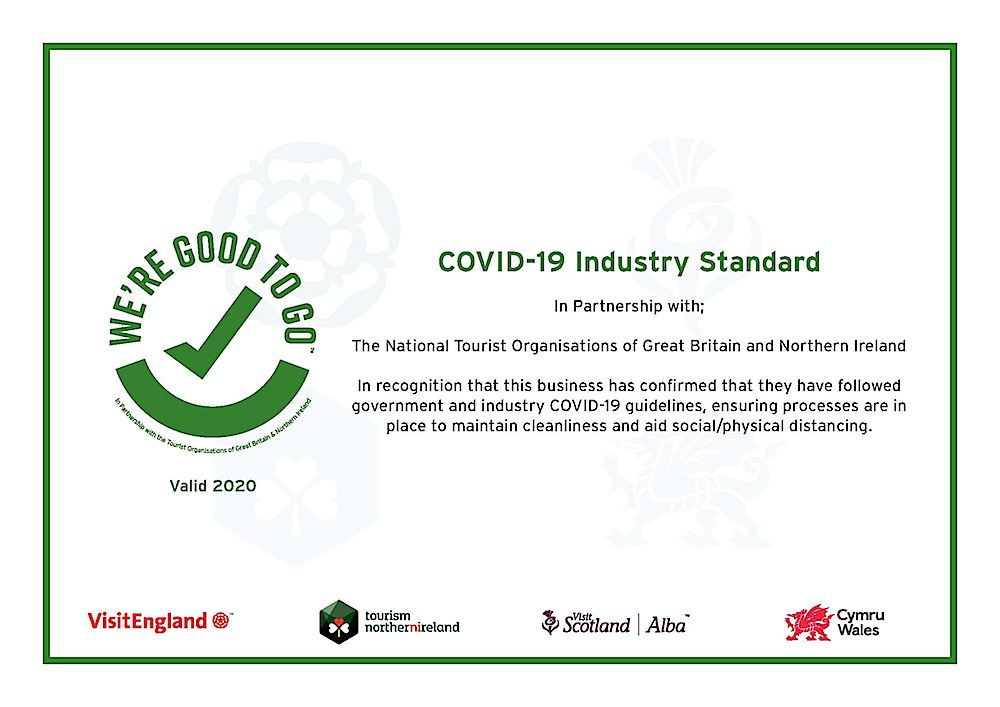 We're Good To Go certificate Apppledore Campsite